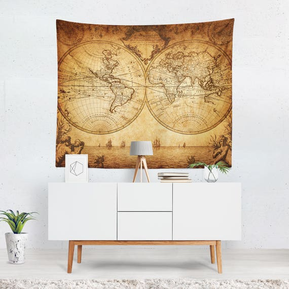 World Map Tapestry World Map Wall Tapestry World Map Wall