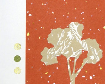 Paper Collage Greeting Card