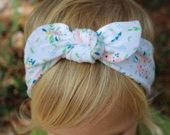 spring time top knot headband
