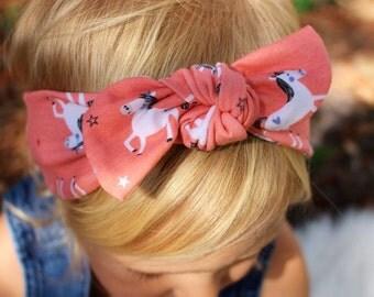 unicorn top knot headband