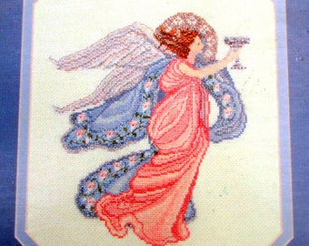 "CROSS STITCH BOOKS//""Bethany Angell"" by Serendipity Designs.A Vintage(1987) Cross Stitch Pattern of Angel. Artwork by Mar Bek//On Special!"