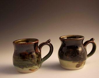 Small Brown Hand Thrown Pottery Mug