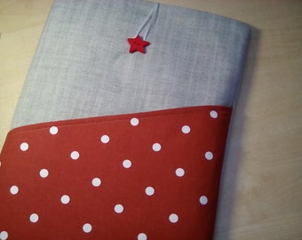 """Red berry 15"""" / 15.4"""" / 15.6"""" laptop sleeve, Lenovo case, Samsung Galaxy laptop, Macbook 15"""" fabric case, Sony tablet cover, Acer tablet bag"""
