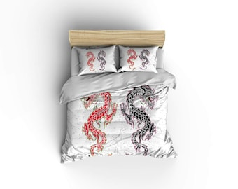 Dragon Pillow Etsy - Chinese dragon comforter set