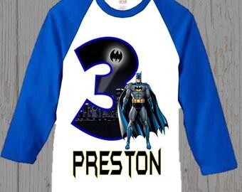 Batman Birthday Shirt - Batman Shirt - Ringer  Shirt