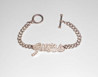 Vintage Stainless Steel Guess Bracelet, Chic, gift ideas