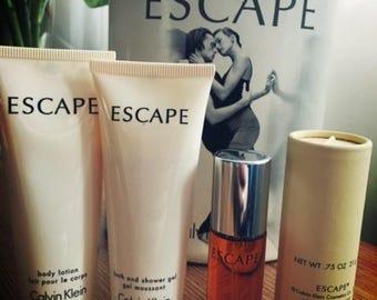 Calvin Klein Escape perfume set, vintage rare