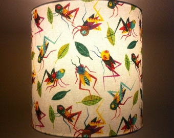 lampshade - grasshoppers hoppin'