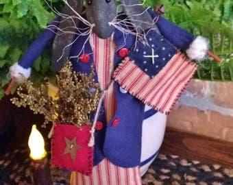 Primitive Handmade Patriotic Rabbit