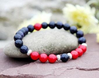 Christmas jewelry Friendship bracelet Gemstone bracelet natural stone bracelet coral bracelet aventurine bracelet coral Jewelry aventurine