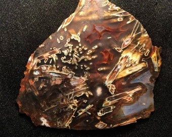 stıck and tube agate slab