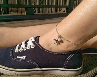 Starfish Anklet - Beach Ankle Bracelet, Pearl Anklet, Sterling Silver Anklet, Mermaid Anklet, Mermaid Girl, Ocean Anklet, Mermaid Gifts