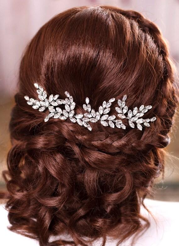 Bridal hair pins Crystal hair pins Wedding hair pins Wedding bobby pins Bridal hair piece Rhinestone hairpin Silver pin Bridesmaid hair pins