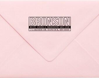 Custom Return Address Stamp, Wedding Address Stamp, Change of Address Stamp, Modern Address Stamp, Wedding Shower Gift, Teacher Gift 458