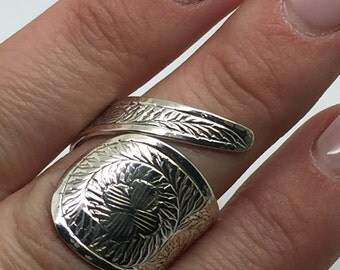 silver ring,carving ring,Adjustable ring,silver carving,women ring,Open Ring,boho ring,bohemian ring,boho chic,925 sterling silver