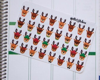 Christmas Rain Deer Stickers!