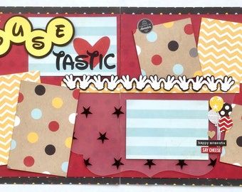 Mouse-tastic 2 Page Scrapbook Page Kit