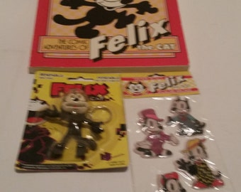 Vintage Felix the Cat Collectibles - 3 Licensed Pieces - Circa 1980s - Excellent Condition!
