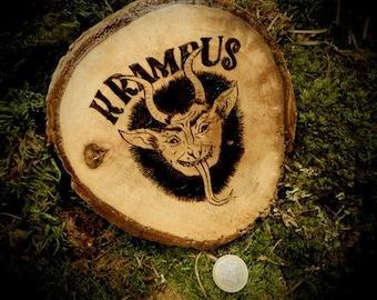 Pyrography Krampus