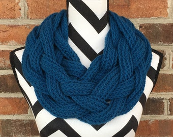 Teal Braided Cowl *FREE SHIPPING*