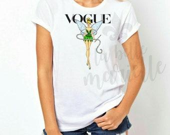 Disney Vogue Tinkerbell Shirt - Disney Vogue Shirt - Tinkerbell Tshirt - Tinkerbell Tee