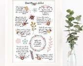 Christian Bible Verses Scriptures Planner Stickers   Flowers (MS-013)