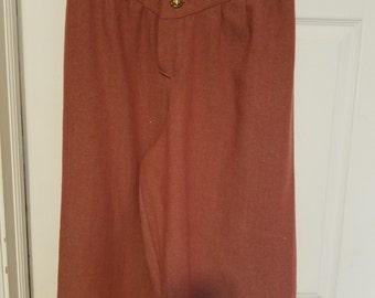 Renaissance Breeches Men's - Wool Herringbone, Red and Cream - XL