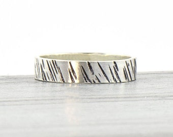 Sterling Silver Ring for Women - Boho Hammered Statement Ring - Unique Rings for Her - Minimalist Stacking Ring - Alternative Wedding Band
