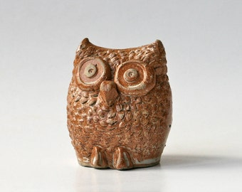 Studio pottery owl - handmade pottery ornament