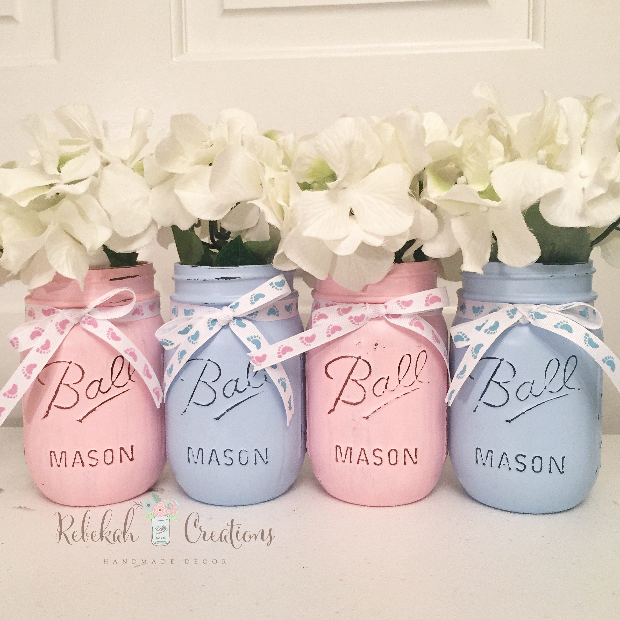 Gender Reveal Mason Jars Gender Reveal Decor Buck or Doe