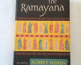 The Ramayana as told by Aubrey Menen - 1954 - 1st Edition - HC w/dustjacket - Illustrated Books