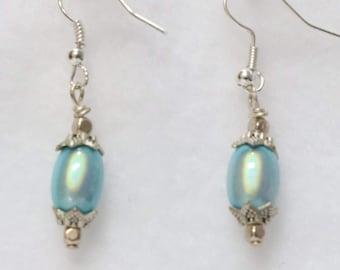 "Beautiful Glowing earrings in various colors size - 1"""