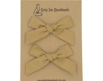 Ginger Hand-Tied Bow // Pigtail Set