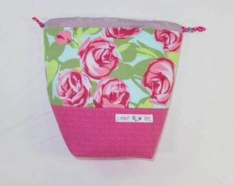 Sock Project Bag // Emily Sack // Blushing Roses