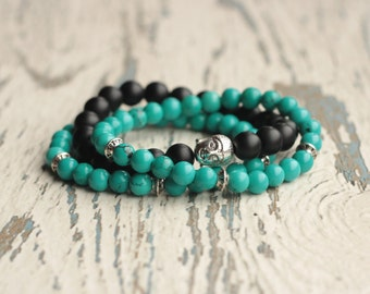 stack bracelet Buddha zen bracelets meditation jewelry healing bracelet beaded set stackable women bracelet for men Buddhism energy stone