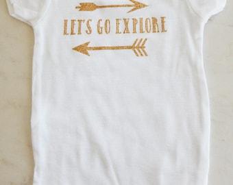 Let's Go Explore Baby Onsie