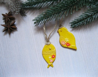 Christmas gift for her christmas necklace holiday jewelry for Como decorar una oficina de trabajo