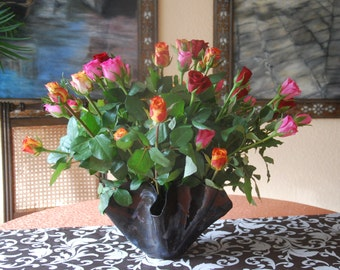 Ceramic bowl, fruit bowl, flower Steckschale
