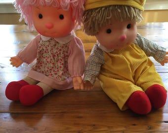 Vintage 1980's Astra Komfy Kids Dolls