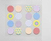 32 dot stickers, round stickers, sticker seals, 90s pattern, sticker gift wrap