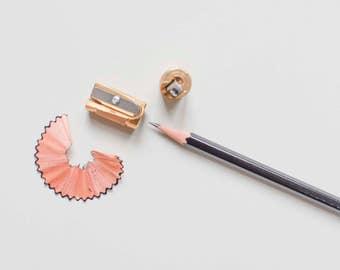 Castor sharpener, long point Sharpener, M+R brass sharpener, single sharpener