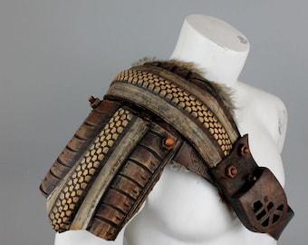 Post Apocalyptic Armor - Mad Max Armor - Road Warrior Armour Spaulder - Shoulder Armor - Shoulder Pauldron - Burning Man Costumes