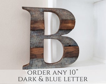 Wood Letter, Woodland Nursery, Home, Farmhouse Decor, Wall Letter, Rustic Home Decor, Wooden Letter, Room Decor, Nursery Wall Letter