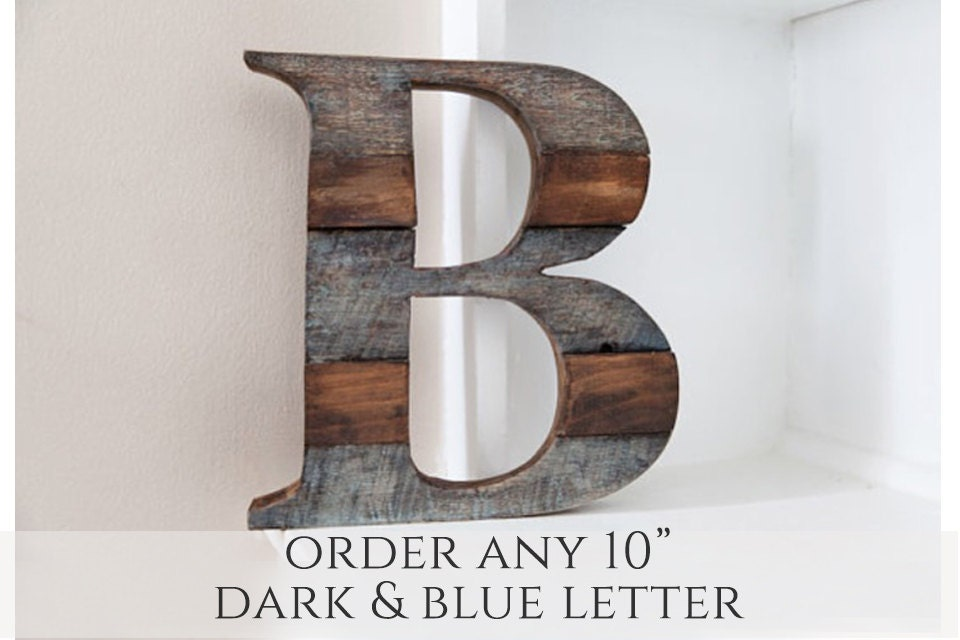 Fall decor wood letter rustic home decor home decor - Wood letter wall decor ...