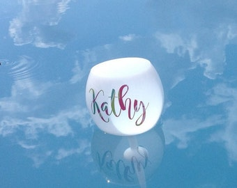 Floating Wine Glass - Floating Pool Glass - Wine Glass For Pool-Spring Break-Beach Glass-Wine Glass with a Spike