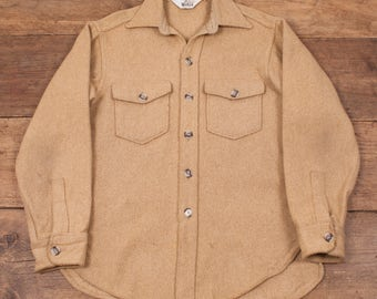 "Mens Vintage 1960s Woolrich CPO Workwear Lumberjack Wool Over Shirt M 38"" R4864"