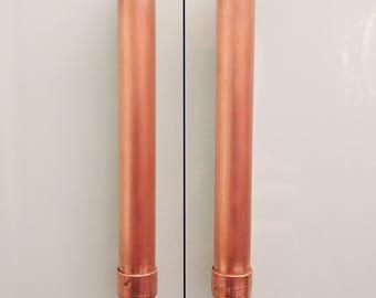 Modern Copper Large Bar Pull Handle Cabinet Hardware Pull Handle Bar Handle Kitchen Door Handle
