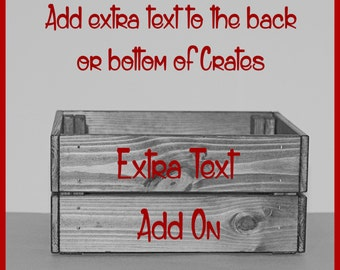 Extra Text - Double Sided Or Text On The Bottom *Add On*