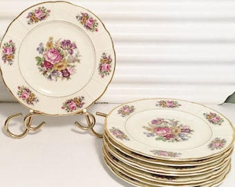 Rosenthal Continental Ivory,  Bavaria, Plates, Set of 8 Bread and Butter Plates