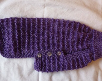 Hand knitted Coat for small dog